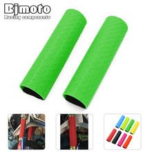 Bjmoto Universal Off Road Bike Front Rubber Shock Protector Dust Guard Boots Cover Gaiter for kawasaki KTM Suzuki Yamaha Honda(China)