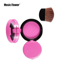 Music Flower Brand 6 Colors Face Blusher Lovely Palette Makeup Blush Powder Professional Bronzer Red Cheek With Brush Kits