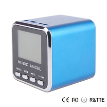 New Fashion Music Angel Mini Speaker Boombox JH-MD08 Blue for Computer iPad and Mobile Phones portable speaker Support USB DISK