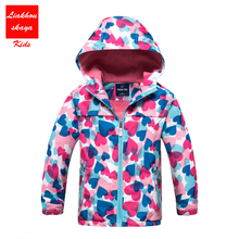 2017 New children Autumn Winter Jacket For 4-13 y boys/girls Hoodies Waterproof Windproof Raincoat Kids Outerwear Boys Clothes(China)