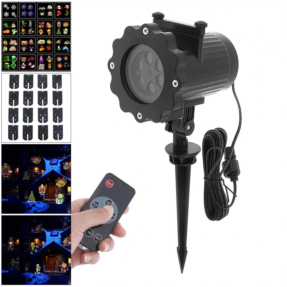 Sale Waterproof Outdoor Snow Projection Laser Light with 16 Card and Remote Control for Christmas / Holiday Decoration<br>