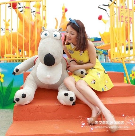 stuffed animal Backkom bear  plush toy 45 cm gray  bear doll about 17 inch toy p0957<br><br>Aliexpress