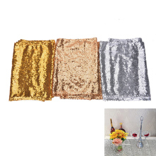 Embroidery Mesh Sequin Tablecloth Sequin Table Overlay For Wedding/Party Decor Home Textile 3 Colors 30x180cm 1Pcs