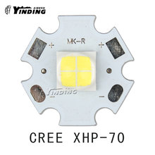 1pcs Cree XLamp XHP-70 XHP70 6V Warm/Neutral/Cold White 30W High Power LED Emitter Chip Blub Lamp Light with 20MM PCB Heatsink(China)