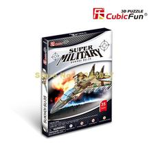 Cubicfun P604H Super Military Su-35 Fighter Airplane Aircraft 3d Jigsaw Paper Model Puzzle(China)