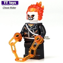 Ghost Rider Single Sale DC Super Heroes Avengers Dolls Building Blocks Sets Bricks Figure Children Christmas Gifts Toys
