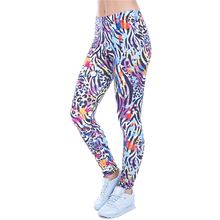2017 Women funny Casual Basic Leggins Wild Dots Leopard Printed Leggings High Waist 95% Polyester 5% Spandex Fit Legging Multico
