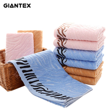GIANTEX 3pcs/set Tiger Stripe Pattern Soft Bamboo Fiber Towel Thick Bathroom Super Absorbent Face Towel 35x75cm U1037(China)