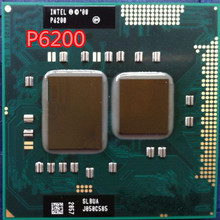 Original for Intel Pentium Processor P6200 p6200 3M Cache, 2.13 GHz Support HM55 Laptop Notebook Cpu Processor Free Shipping