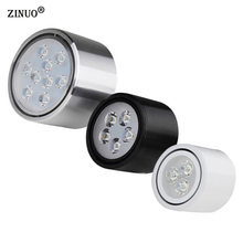 ZINUO Surface Mounted LED Downlights 3W 5W 7W 9W 12W High Power LED Ceiling Spot Light Kitchen Bathroom LED Downlights AC85-265V(China)