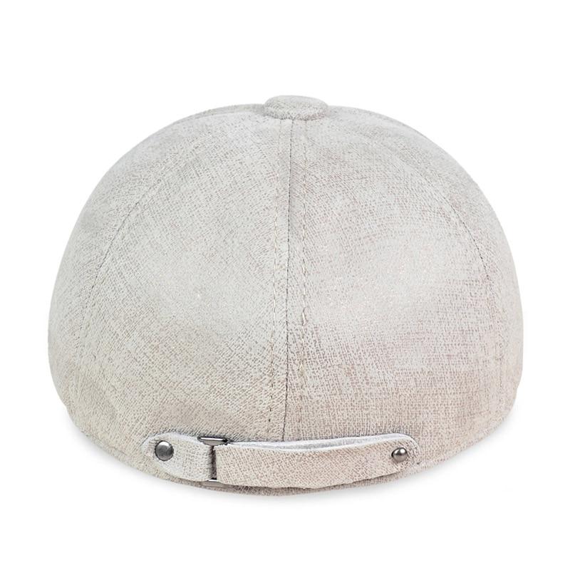 Compre HL113 Real De Couro Boné De Beisebol Chapéu De Inverno Quente ... f5d0e798599