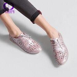 AIMEIGAO/Новое поступление; модная повседневная обувь; женская обувь на плоской подошве со шнуровкой; Повседневная дышащая обувь черного цвета;...