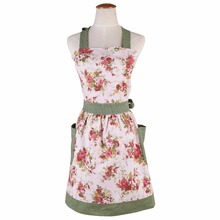 2017 hot Retro antifouling Cute Cotton Kitchen Aprons Rural style for woman Delantal Cooking work Tablier Dress Vintage