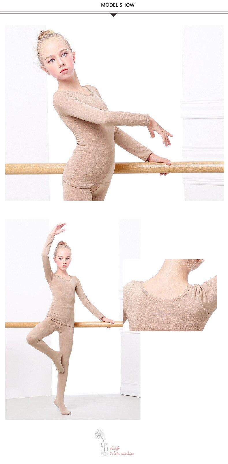 Daydance Kids Girls Sets Tops /& Pants Tan Base Layer for Dance