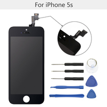 "High Quality 4""LCD Screen Replacement with Tool kits for iPhone 5 5s 5c LCD Display TouchScreen Digitizer Assembly free shipping"