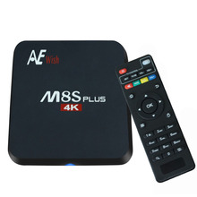 ANEWKODI Android Tv Box M8S PLUS M8s+ Quad-Core Smart TV Amlogic S905 KD 16.0 4K 2G/16G WIFI Full HD Android 6.0 Media Player(China)