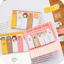 Novelty Happy Bus Molang Self-Adhesive N Times Memo Pad Sticky Notes Post It Bookmark School Office Supply