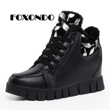 Buy FOXONDO 2018 Women Martin Boots Warm Winter Shoes Botas Feminina female Fashion Motorcycle Leather Ankle Boots Women Botas mujer for $20.72 in AliExpress store