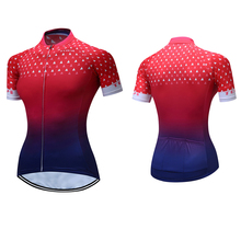 2017 Cycling Jersey Blue Red MTB Summer Women Riding Clothing Bike Bicycle Short Maillot Ciclismo Breathable Polyester Clothes(China)