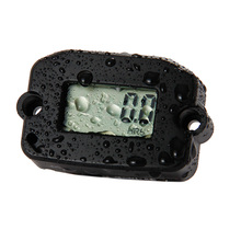 Waterproof silver Tach Hour Meter for motorcycle MX lawnmower snowmobile jet engine marine atv tractor truck record max rpm
