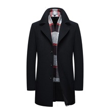 new Korean cultivating in The long hair collar Nenan autumn and winter Metrosexual youth fashion coat