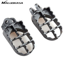 MALUOKASA Motocross Foot Pegs Pedal Footrest For Kawasaki KLX400 KX500 For Suzuki DRZ400/RM125 250 DR-Z 400E 400S 2000-07 Auto(China)