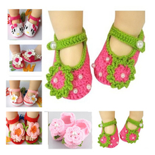 Fashion Baby Shoes Handmade KT Cat Knitting Baby Shoes Newborn Ballerina Crochet Shoe Kids First Walkers Baby Moccasins sandalia