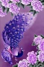 30*42cm  New DIY 5D diamond Purple peacock Painting embroidery mosaic diamonds wall stickers home decor For Christmas Gift