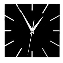 2017 hot sale acrylic mirror wall clock modern design clocks reloj de pared watch living room needle europe home vintage horloge(China)