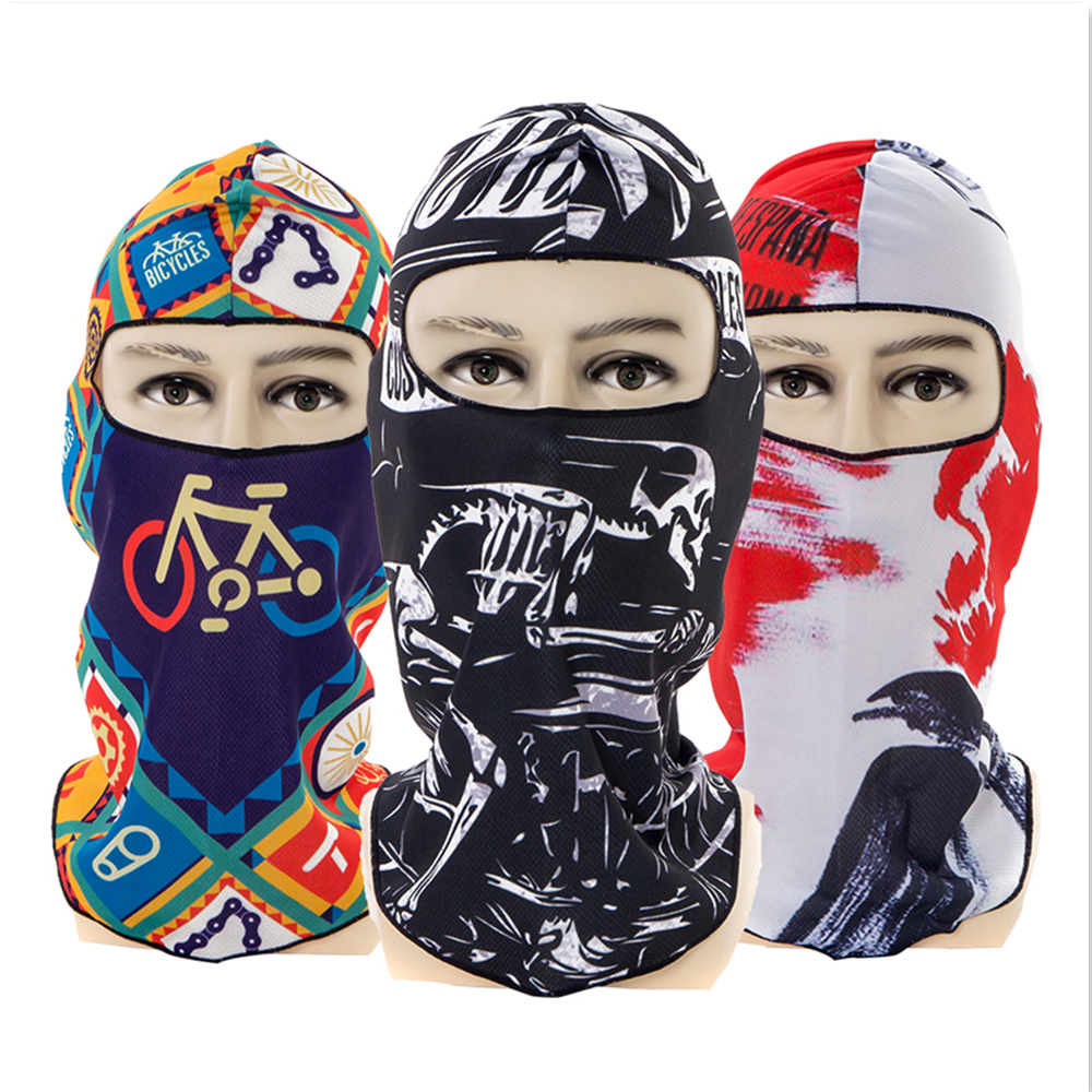 2018 Outdoor skiing Anti-UV Running play football Racing Comic skull Warm mask