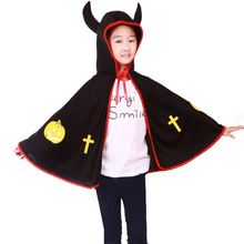 New Halloween Cloak Party Carnival Performance Items Kids Pumpkin Ox Horn Costume Festival Cosplay Masquerade Supplies(China)