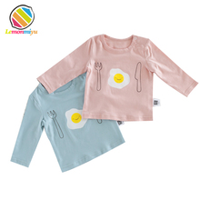Newborn Baby Tshirts Girl Cotton Infant Baby Boy Tops Kids Cute Comfy Tees Clothes O-Neck Full Shirts Coverd Button Baby Clothes(China)