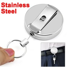 50X Metal Delicate And Durable Retractable Pull Chain Reel ID Card Badge Holder Reel Recoil Belt Clip(China)
