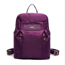 Women Nylon Purple Backpack 2017 Fashion Waterproof School Bag For Teenage Girls Famous Brand Casual Travel Rucksack New XA755H