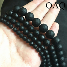 Buy Matte Natural bead Carnelian Agat beads black onyx faceted Natural Stone beads round Diy loose beads bracele jewelry making for $1.39 in AliExpress store