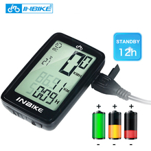 INBIKE USB Rechargeable Bike Computer Wireless Waterproof Temperature Bicycle Speedometer LED Backlight Bicycle Accessories