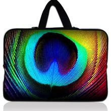 15 inch Peacock Feather laptop bag PC sleeve case with handle 15.4 15.6'' computer notebook cover pouch For Hp Lenovo Acer Asus
