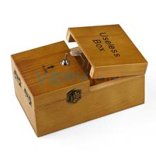NEW Turns Itself Off Useless Box Leave Me Alone Machine Fully Assembled in Real Wood Free Shipping!
