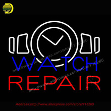 Watch Repair Neon Sign Handcrafted Bulb GlassTube Club Decorate sign Store Display Tube Glass Neon Art Sign Led Tube 24x31
