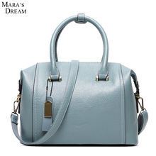 Mara's Dream 2017 New Women Habdbag High Quality PU Leather Solid Color Tassel Bag Women's Messenger Bags Tote Handbags(China)