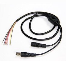 10x 80cm BNC Video DC12V Power OSD Control Pigtail Cable Analog CCTV Camera Module Board Menu Button end cable