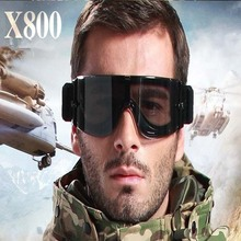 Safety Military Oculos Airsoft X800 Tactical Goggles Shooting Glasses Army Paintball Goggles Hunting Combat Protective Glasses(China)