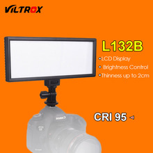 Viltrox L132B LED Video Light Ultra Thin LCD Display Dimmable Studio LED Light Lamp Panel for DSLR Camera DV Camcorder(China)