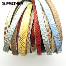 GUFEATHER 5mm Bright skin Leather cord/jewelry accessories/jewelry making/materials/leather lace