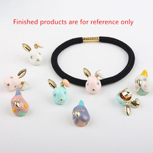 Buy diy hair accessory 30pcs/lot alloy drop oil gold-color animals cartoon rabbits/parrot shape metal floating locket charms for $19.99 in AliExpress store