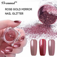 Vrenmol 0.2g Rose Gold Mirror Nail Glitter Powder Gel Polish Chrome Pigment Dust Shinning Glitters Chameleon Nail Art Lacquer(China)