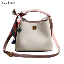 High Quality Women Tote Bag Fashion Handbags Summer Obag Handles Leather Bucket Bag Female Shoulder Work Office Bag Fringe Scarf