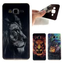 Fashion Lion Owl Panda Pattern IMD TPU Soft Phone Back Cover Animal Case for Samsung Galaxy Grand Prime G530 G530H G530F G531F