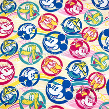 155*50cm 1pc Mickey Mouse Fabric 100%Cotton Fabric Patchwork Telas Mickey Mouse/Donald Duck Head Printed Diy Sewing Clothing