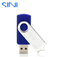 SINI swivel USB Flash Drive memory cle usb stick U disk pen drive 64GB USB 2.0 4GB 8GB 16GB 32GB pendrive Flash Drive for gift